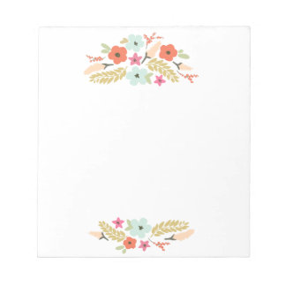 Cute and Colorful Flowers Notepad