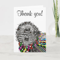 Cute and Colorful Goldendoodle Greeting Card