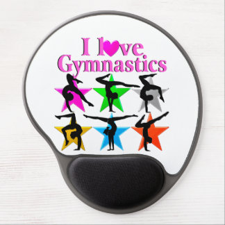 CUTE AND COLORFUL I LOVE GYMNASTICS DESIGN GEL MOUSE PAD