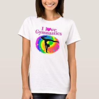 CUTE AND COLORFUL I LOVE GYMNASTICS DESIGN T-Shirt