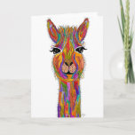 Cute and Colorful Llama Greeting Card