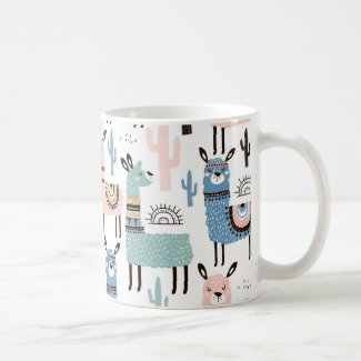 Cute and Colorful Llama Mug