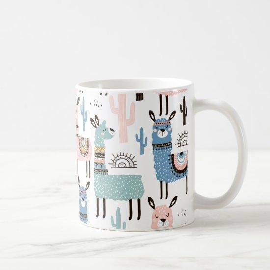 Cute and Colorful Llama Mug