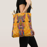 Cute and Colorful Llama Tote Bag