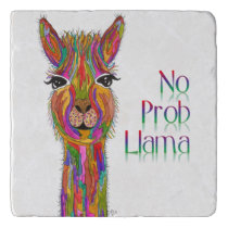 Cute and Colorful Llama Trivet