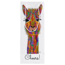 Cute and Colorful Llama Wine Bag