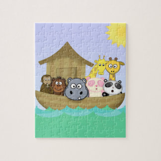 Cute and Colorful Noah's Ark Animals Cartoon Jigsaw Puzzle