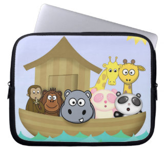 Cute and Colorful Noah's Ark Animals Kids Cartoon Laptop Computer Sleeve