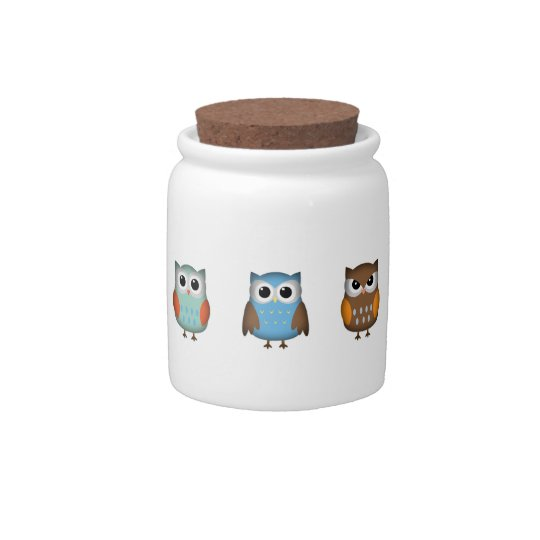 Cute and Colorful Owls Candy Dishes