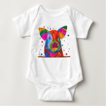 Cute and Colorful Pig Baby Pajamas Baby Bodysuit