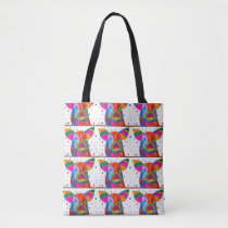 Cute and Colorful Pig Tote Bag