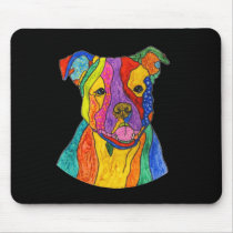 Cute and Colorful Pit Bull Mousepad