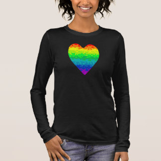 Cute and colorful rainbow heart long sleeve T-Shirt