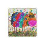 Cute and Colorful Sheep Magnet