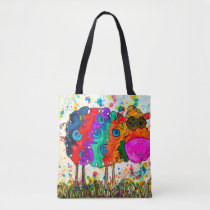 Cute and Colorful Sheep Tote Bag
