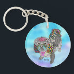 "Cute and Colorful Shih Tzu Keychain<br><div class=""desc"">A fun, colorful and whimsical hand-drawn and painted Shih Tzu design named &quot;Bella&quot;. This colorful keychain is a perfect gift for the Shih Tzu lover in your life or for yourself. I hope it makes you happy . . . that is my goal and passion! ♥ You can be creative...</div>"
