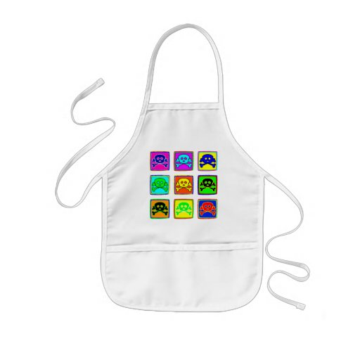 Cute and Colorful Skulls Aprons