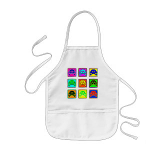 Cute and Colorful Skulls Kids' Apron