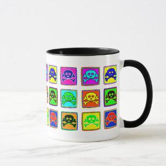 Cute and Colorful Skulls Mug