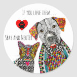 Cute and Colorful Spay and Neuter Sticker