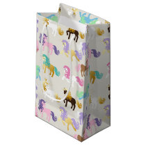 Cute and Colorful Unicorn Birthday Small Gift Bag