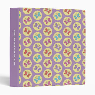 Cute and Colorful Whimsical Butterflies Pattern Binder