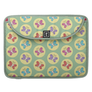 Cute and Colorful Whimsical Butterflies Pattern Sleeve For MacBook Pro