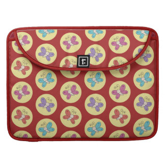 Cute and Colorful Whimsical Butterflies Pattern Sleeve For MacBooks