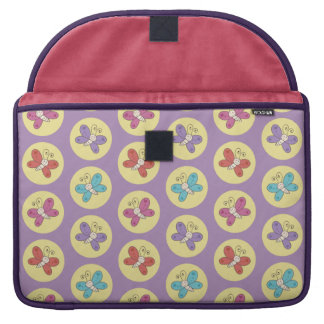 Cute and Colorful Whimsical Butterflies Pattern Sleeves For MacBook Pro