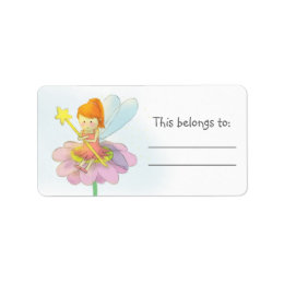Cute and Colourful Fairy Label