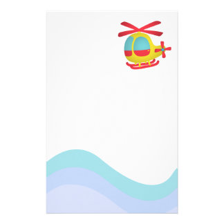 Cute and Colourful Helicopter for Kids Custom Stationery