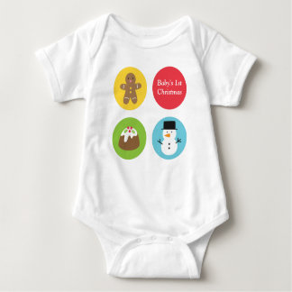Cute and Colourful Merry Christmas Baby Bodysuit