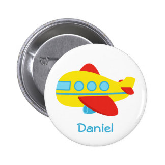 Cute and Colourful Passenger Aeroplane Button