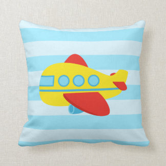Cute and Colourful Passenger Aeroplane, Kids Room Pillow
