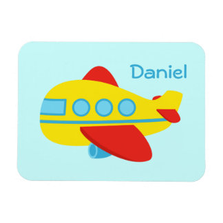 Cute and Colourful Passenger Aeroplane Vinyl Magnets