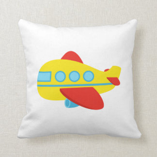 Cute and Colourful Passenger Aeroplane Throw Pillow