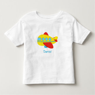 Cute and Colourful Passenger Aeroplane Toddler T-shirt