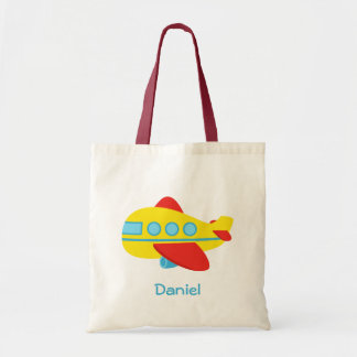 Cute and Colourful Passenger Aeroplane Tote Bag