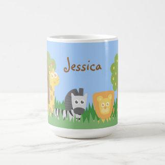 Cute and Colourful Safari Animals Theme Classic White Coffee Mug