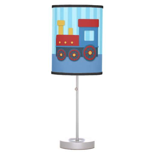 Cute And Colourful Train For Boys Bedroom Desk Lamp