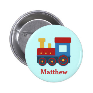 Cute and Colourful Train for Boys Button