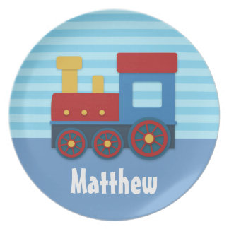 Cute and Colourful Train for Boys Dinner Plate