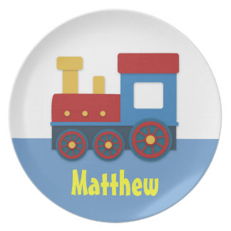 Cute and Colourful Train for Boys Party Plates