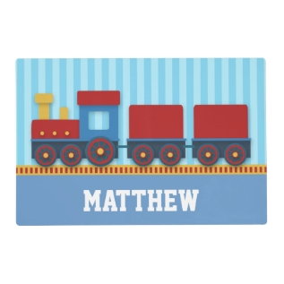 Cute and Colourful Train with Cargo for Boys Placemat at Zazzle