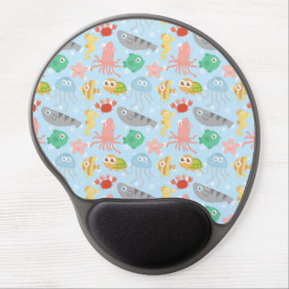 Cute and Colourful Underwater Animals Pattern Gel Mouse Pad