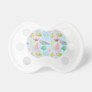 Cute and Colourful Underwater Animals Pattern Baby Pacifiers