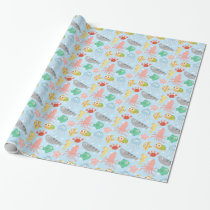 Cute and Colourful Underwater Animals Pattern Wrapping Paper