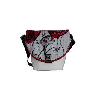 Cute and Creepy Creature Art Mini Messenger Bag