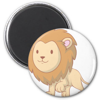 Cute and Cuddly Baby Lion Magnet