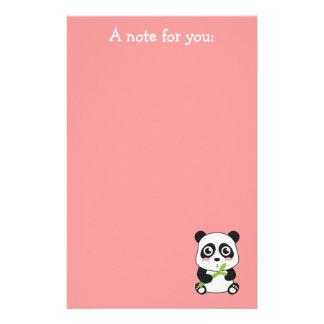 Cute and Cuddly Baby Panda Stationery